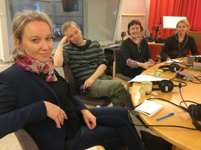 In the studio with Minna Tawast and Riina Maukola from Teatteri&Tanssi