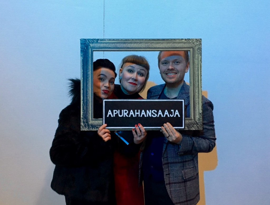 Reality Research Team at the party: executive manager Annu Kemppainen, Chairwoman of admin board Maria Oiva and I.